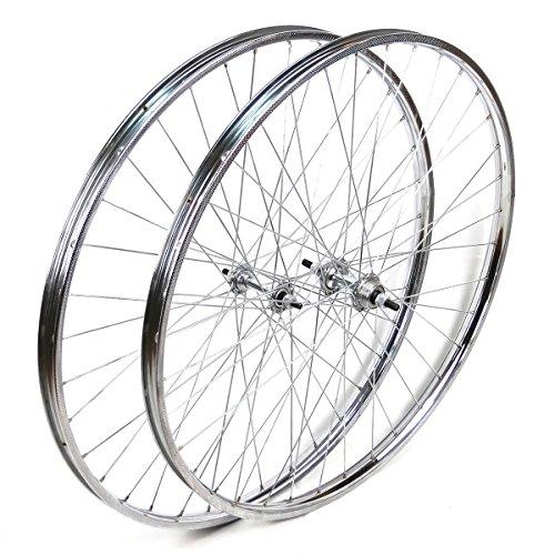 OldNewBikes Ruedas Delantera y Trasera Westrick 28 x 1 ½ de Acero Cromado para Bicicleta clásica*
