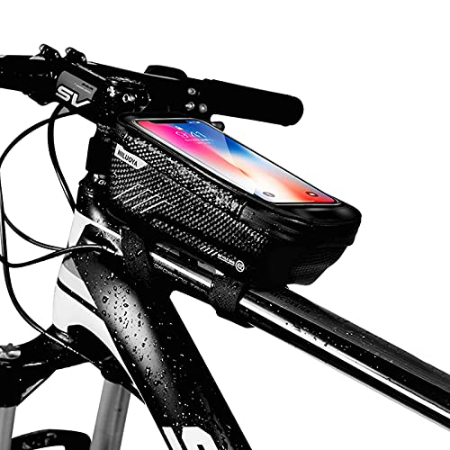 Niluoya Bolsa de Movil Bicicleta Manillar, Soporte Impermeable Accesorios Bicletas Porta Bike...*