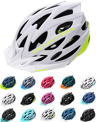 meteor Casco Bicicleta - Helmet Ciclismo para Jóvenes y Adulto Bicicleta Patineta Skate Patines Monopatines - Bici Accesorios - El diseño Ligero - Muchos Patrones - Marven