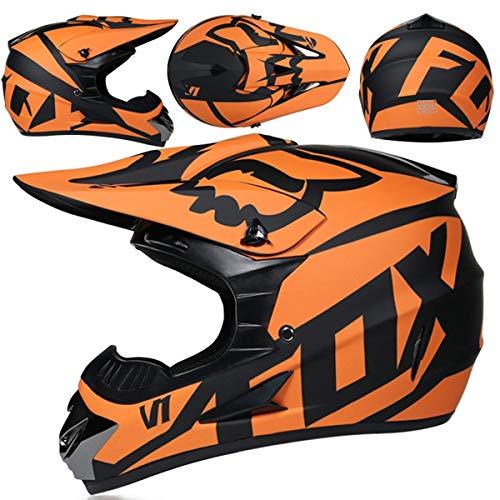 Casco Motocross Niño 5~12 Años ECE Homologado Casco Moto Integral Unisex para Moto Cross Descenso...*