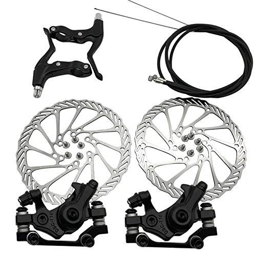 DASNTERED - Juego de frenos de disco de bicicleta, frenos de disco hidráulicos para bicicleta de montaña, pinzas para frenos de disco delantero trasero universal