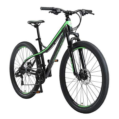 BIKESTAR Bicicleta de montaña Hardtail de Aluminio, 21 Marchas Shimano 27.5' Pulgadas   Mountainbike con Frenos de Disco Cuadro 17' MTB   Negro Verde
