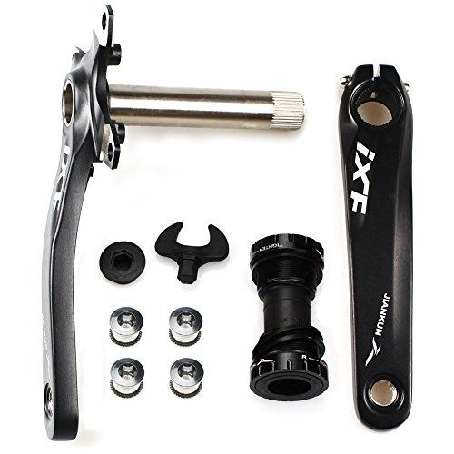 FOMTOR Juego de bielas de bicicleta BCD 104 para bicicleta de montaña con soporte inferior y pernos...*