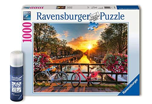 RAVENSBURGER PUZZLE- Ravensburger Fahrradin Amsterdam 82092-Puzzle para Adultos, 1000 Piezas, puzle, Fijar, diseño de Bicicletas (82092)