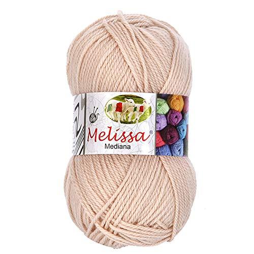 Melissa Hilo 100% Acrilico Ovillo de Lana (200m 100g * 1=50g * 2) Premium para DIY Tejer y...*