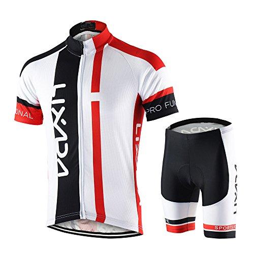 Lixada Maillots de Ciclismo Hombres Camiseta y Pantalones Cortos de Ciclismo Conjunto de Ropa Para...*