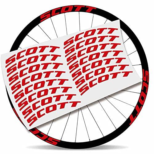 Kit Pegatinas Pegatinas Stickers LLANTA Scott 29' BTT MTB (Rojo Claro)