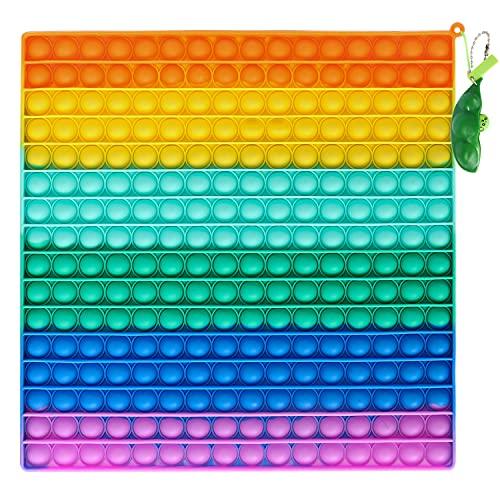 Fettinow Big Pop It 256 Burbujas 30 cm Cuadrado Arcoiris - Fidget Toy Rainbow - Juguete sensorial...*