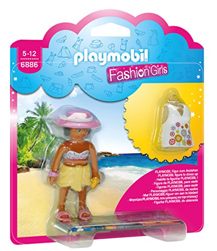 Playmobil Tienda de Moda- Beach Fashion Girl Playset de Figuras de Juguete, Multicolor, 15 x 4 x 16,8 cm (Playmobil 6886)