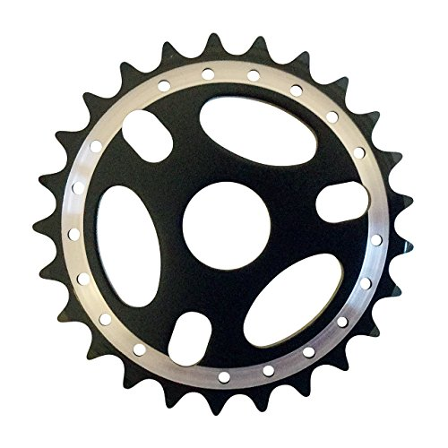 Cervus - Cadena de aleación para Bicicleta BMX, Dientes: 25, Color Negro*
