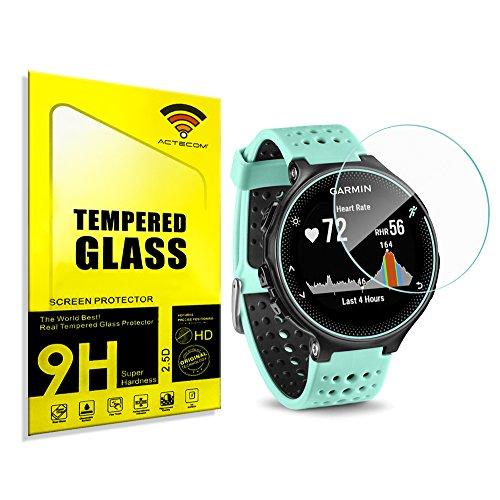 actecom® Protector Pantalla para Garmin Forerunner 235 Cristal Vidrio Templado*