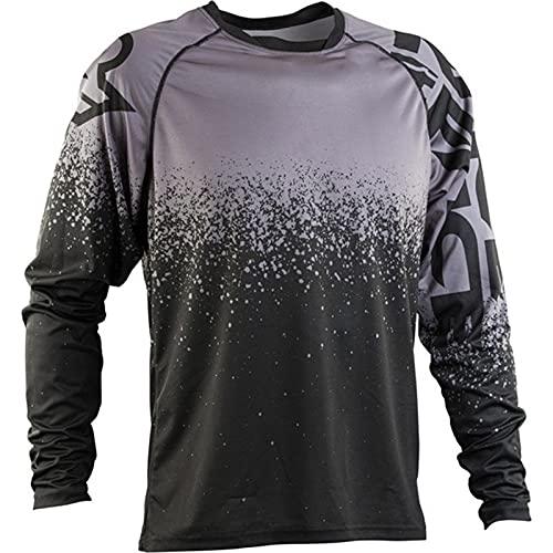 Camiseta de Manga Larga para Ciclismo de Montaña, Motocross Jersey, Camiseta de Enduro para Descenso, Ropa para Bicicleta de Montaña (TYP-3,M)