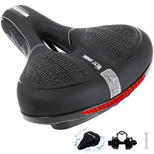 CYCLESPEED Cojín de gel para sillín bicicleta, amortiguador golpes, impermeable, reflectante, alta...*