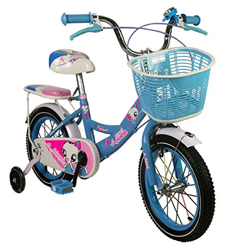 Zerimar Bicicletas Infantiles para niñas| Bici con ruedines y Cesta| Bici niña | Bicicleta niños...*