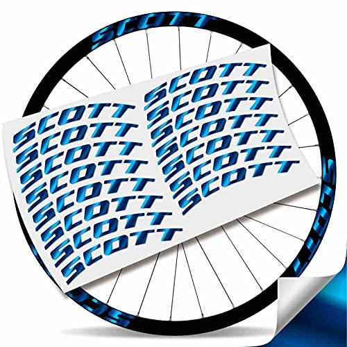 Kit Pegatinas Pegatinas Stickers LLANTA Scott 29' BTT MTB (Azul Cromado)