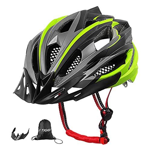 X-TIGER Bicicleta Casco Adulto Unisexo con Certificado CE,Visera y Forro Desmontable Especializado...*