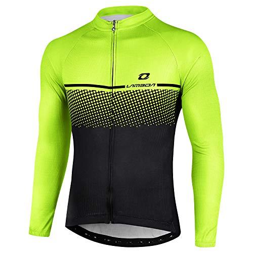 LAMEDA Maillot Ciclismo Hombre Ropa Camiseta Jersey Bicicleta MTB con Mangas Largas para Entretiempo...*