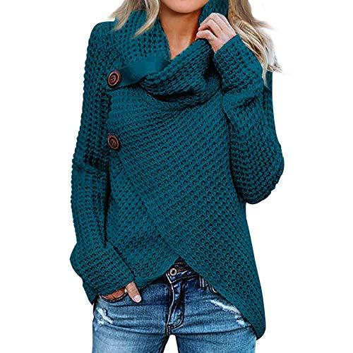 Sudadera de Mujer Básica Knit Love Suéter Moda O-Cuello Otoño Invierno de Gran tamaño Chaqueta...*