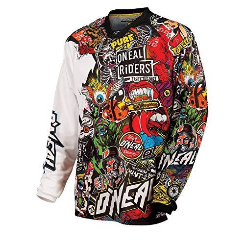 O'Neal Mayhem Crank Jersey Motocross, color Negro/Multicolor Enduro MTB Cross DH, 0023C-10 - XXL*