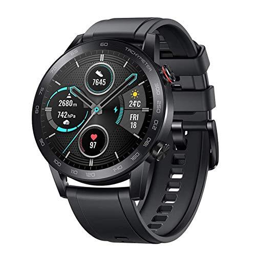 HONOR Smartwatch Magic Watch 2 (46 mm) Fitness Tracker Watch Hombre Mujer Smart Watch, 5 ATM Smart Watch Muñeca Monitor de Ritmo cardíaco Presión Smartband, GPS Llamada por Bluetooth, Negro Mate
