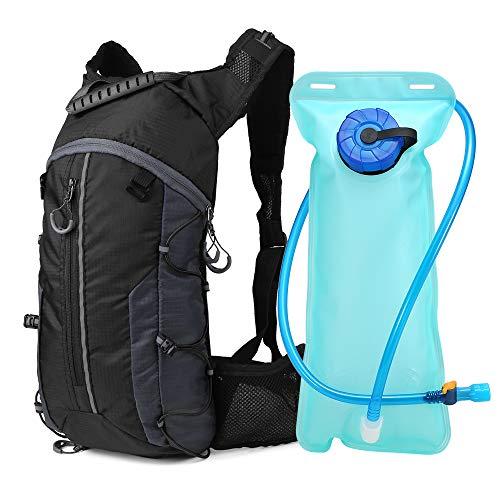 Lixada Mochila de Ciclismo Ligero Plegable Mochila de Hidratación con Bolsa de Agua 2L para...*