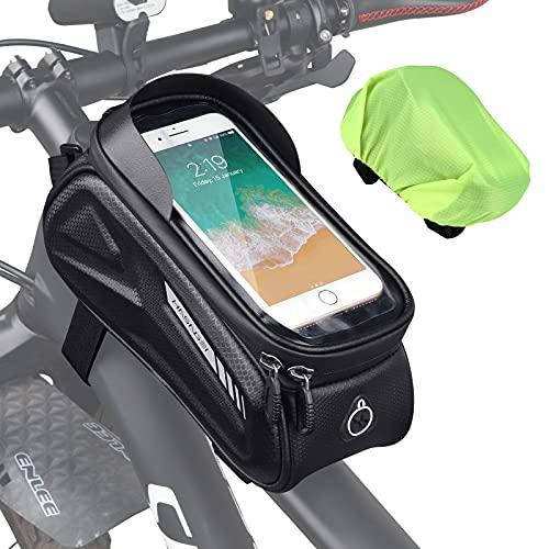 HASAGEI Bolsa bicicleta cuadro , soporte para teléfono móvil, resistente al agua, accesorios para...*
