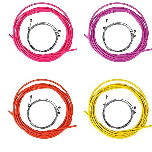 Cable de freno de bicicleta Cambiador de freno de bicicleta Conjunto de carcasa de tubo de alambre...*