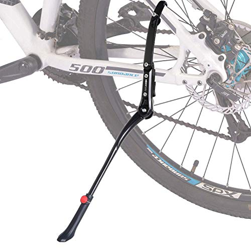 Meowtutu Pata de Cabra, Altura Ajustable, Universal Soporte de Bicicleta Aleación de Aluminio Adapta a 24-29 Pulgadas MTB Montaña, Carretera, Plegable Bici, con soporte de goma antideslizante