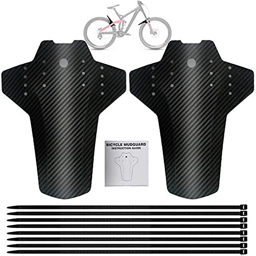 Guardabarros MTB, Guardabarros Bicicleta Montaña, Guardabarros Delantero y Trasero, Juego de Guardabarros para Bicicleta de montaña, para Bicicletas de Montaña