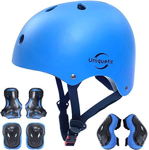 Casco Ajustable para niños y Equipo de protección, Cascos y Almohadillas para Bicicletas para...*
