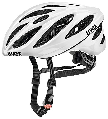 Uvex Boss Race Casco de Ciclismo, Unisex Adulto, Blanco, 52-56 cm