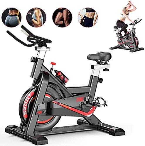 Fnova Bicicleta estática de Spinning Fitness, Profesional Bicicleta Indoor, con monitor de frecuencia cardíaca, Pantalla LCD, Sensores de Pulso, Spinning Bike para Gimnasio En Casa