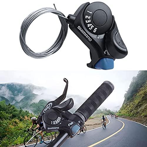 Palanca de cambio de bicicleta, marcación de 6 velocidades, dedo TX30, transmisión, bicicleta de montaña, diseño ergonómico, accesorios para bicicleta de montaña de bajo ruido, manillar…