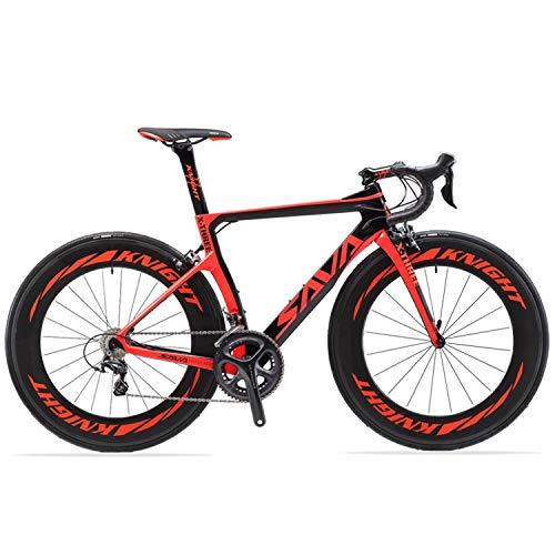 SAVADECK Phantom 2.0 700C Bicicleta de Carretera de Fibra de Carbono Shimano Ultegra R8000...*