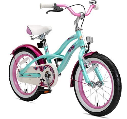 BIKESTAR Bicicleta Infantil para niños y niñas a Partir de 4 años | Bici 16 Pulgadas con Frenos | 16' Edición Cruiser Turquoise