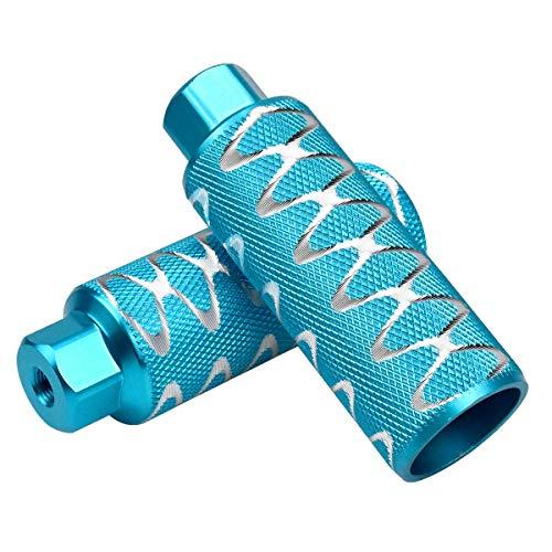 Dokpav 2PCS Pinzas de pie para Bicicleta, Aleación de Aluminio, Pedal de Bicicleta Apto para Ejes Delanteros o Traseros, Clavijas de Bicicleta, para Bicicleta Bici BMX (Azul)