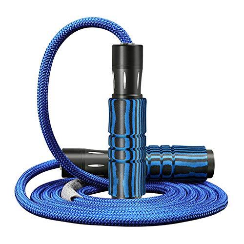 LAIABOR Comba de Saltar Cuerda de la Aptitud Ajustable con Espuma de Memoria Manijas Antideslizantes para Niños/Adultos,Azul,7mm