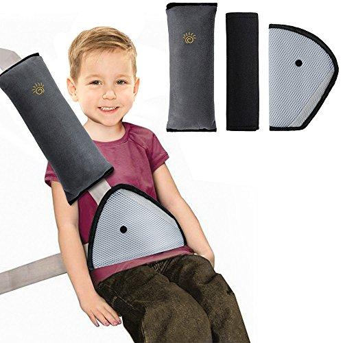Rovtop 3 Pcs Almohadillas para Cinturón Cojín de Almohadillas Protectores Cobertores Cojín de Viaje Fundas de Cinturones de Seguridad Almohadillas Protectoras Hombro