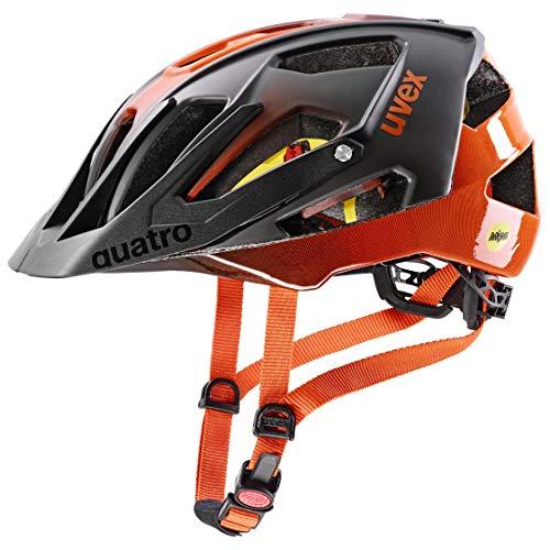 uvex Quatro CC MIPS Casco de Bicicleta, Unisex-Adult, Titan-Orange, 56-61 cm*