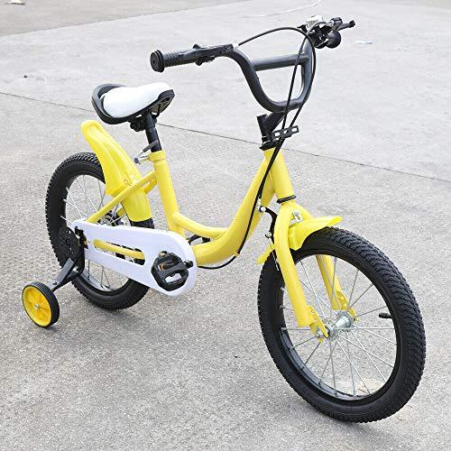 DIFU Bicicleta infantil de 16 pulgadas, estabilizadores de equilibrio de acero, antideslizante, para niñas a partir de 4 – 8 años