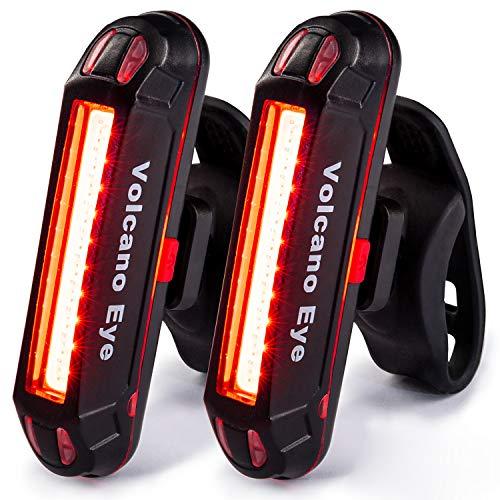 Luz Trasera para Bicicleta Potente (2 Paquetes) Luz de Seguridad LED Recargable USB Piloto Luz...*