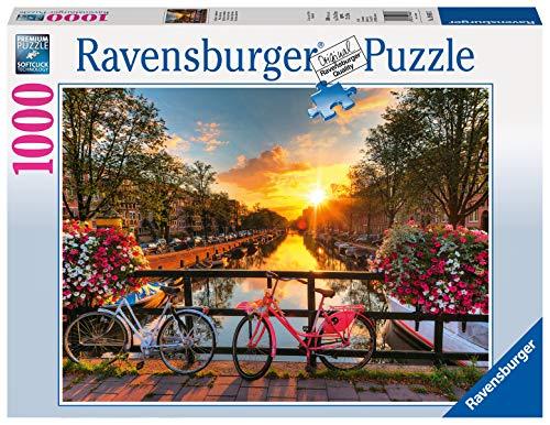 Ravensburger Puzzle 1000 Piezas, Bicicletas en Amsterdam, Colección Fotos y Paisajes, Puzzle para Adultos, Rompecabezas Ravensburger de Alta Calidad