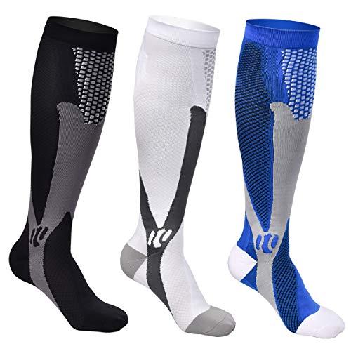 Funkprofi 3 pares de calcetines de compresión para hombre y mujer, para deportes, correr, viajes,...*