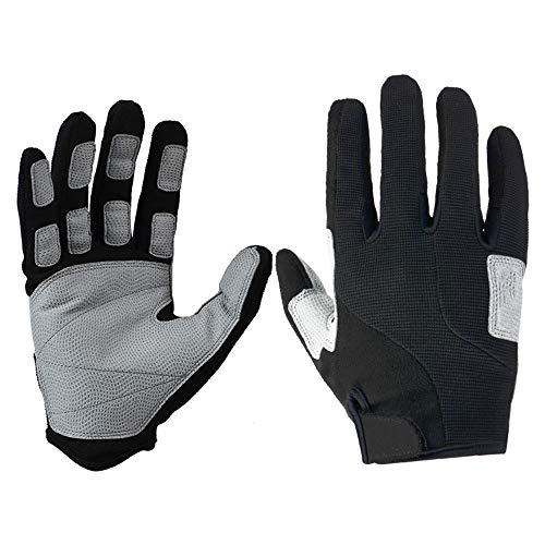 Guantes de ciclismo Guantes de bicicleta unisex BTT Deportes guantes de invierno al aire libre completa Guantes de bici del dedo de absorción de choques del cojín for la escalada de la motocicleta gim