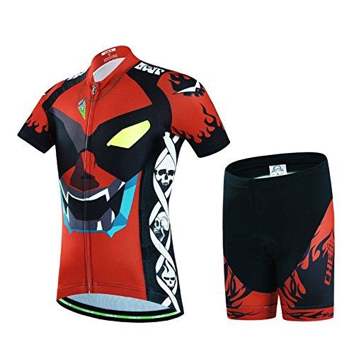 Baotung Maillot de ciclismo para niños, camiseta de manga corta y pantalón con almohadilla para el...*