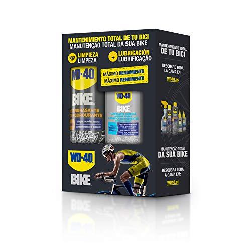 WD-40 BIKE - Bipack Mantenimiento Cadenas Bicicleta en Ambiente Húmedo- Spray 500ml + Gotero 100ml