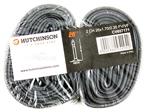 HUTCHINSON MTB 26' x 1.70-2.35 válvula Presta (Fina), 48 mm Cámara de Bicicleta, Unisex Adulto, Negro, 26 x 1.70-2.35