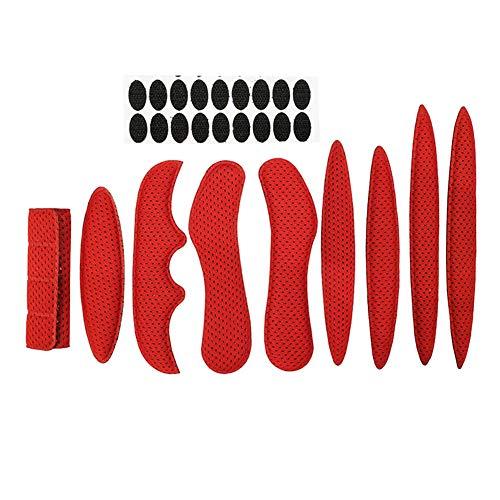Almohadilla de espuma universal para casco de bicicleta, de repuesto para bicicleta con regulación de equitación, antigolpes, flexible