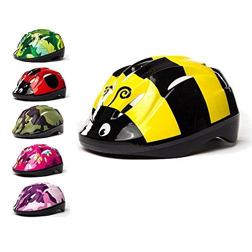 3StyleScooters® SafetyMAX® Casco para Niños - 6 Diseños Increíbles Bicicleta y Patinete - Cinta Ajustable - Opciones para Niños de 3 a 11 Años
