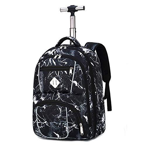 Mochila escolar portátil para niños y niñas, se adapta a mochila con ruedas de 18 pulgadas para adultos y estudiantes escolares, bolsa de viaje, mochila Galaxy, Color 5, 22*12*9(in),